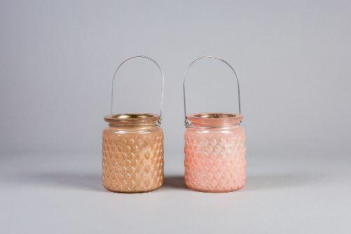 83a3759da86 Roosa klaaslatern teeküünlale | PiigadePeoagentuur